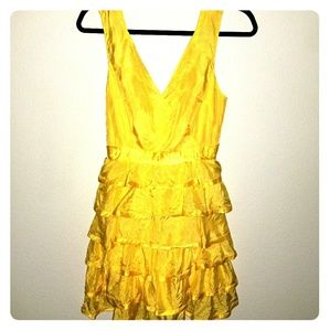 ARDEN B. Yellow Ruffle Party Dress